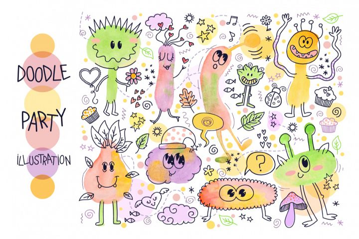 Doodle Party Illustration