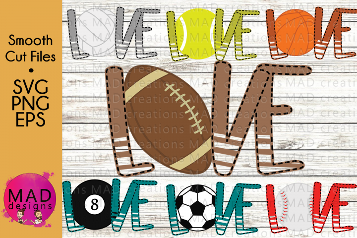 Bundle - Love Sports - SVG, PNG, EPS