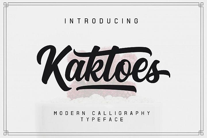 Kaktoes Script Font