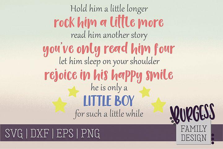 Hold him a litte longer Nursery | SVG DXF EPS PNG