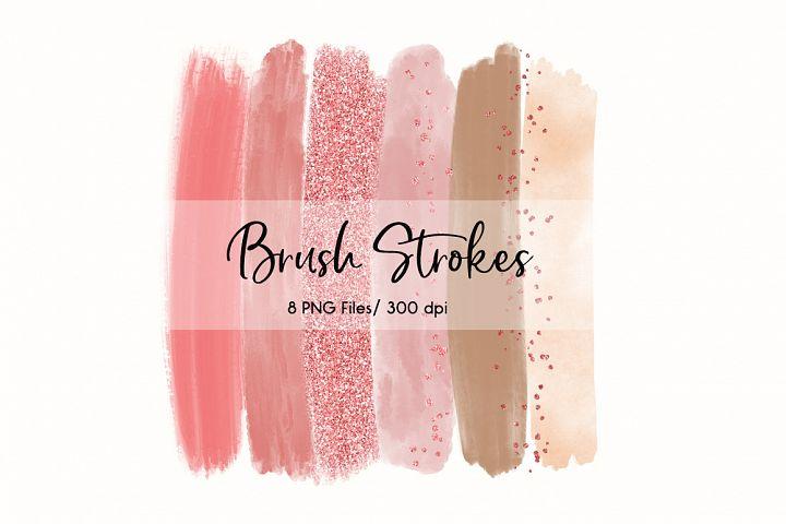 Brush Strokes ClipArt (Rose & Blush)