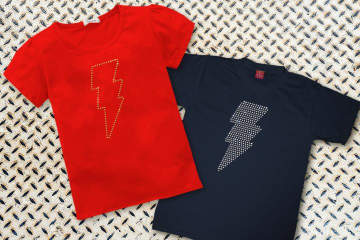 Rhinestone Lightning Bolt SVG File Template