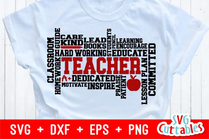 Teacher Word Art | Cut File