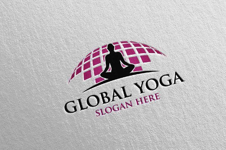 Yoga and Spa Lotus Flower logo 34