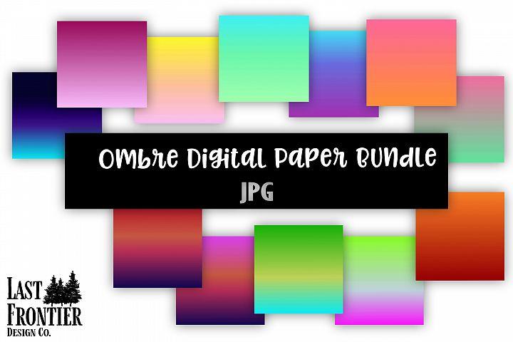 Ombre digital paper