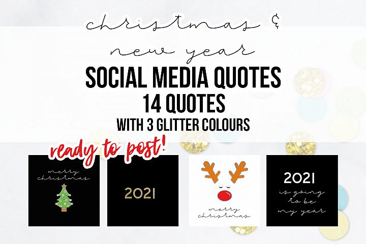 14 x Christmas & New Year Social Media Quotes