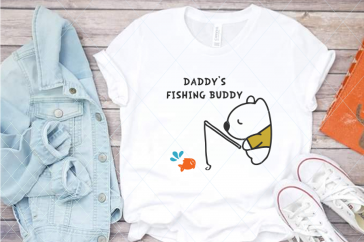 Daddys fishing buddy, fishing cut file, daddy svg, hobby