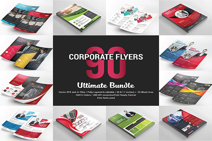 90 Corporate Flyers Bundle