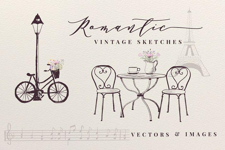 Romantic Vintage Sketches