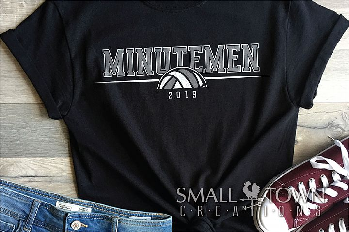 Minutemen Volleyball, Logo, Team, Sport, PRINT, CUT & DESIGN
