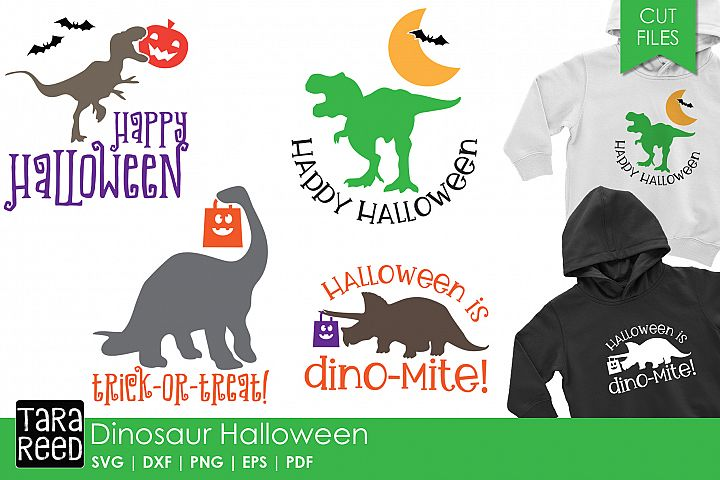 Dinosaur Halloween - Halloween SVG and Cut Files for Crafter