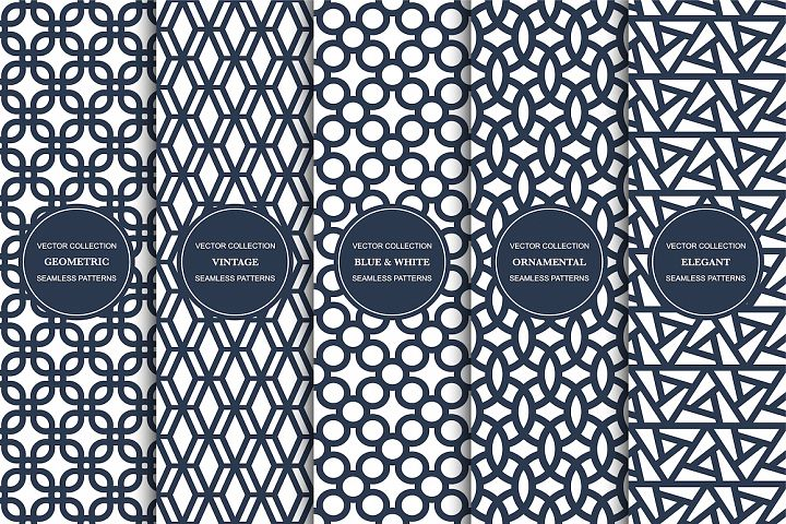 Vector seamless geometric patterns