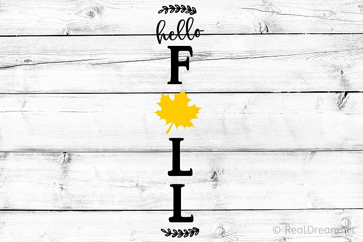 Hello Fall Porch Sign SVG, DXF, PNG, EPS