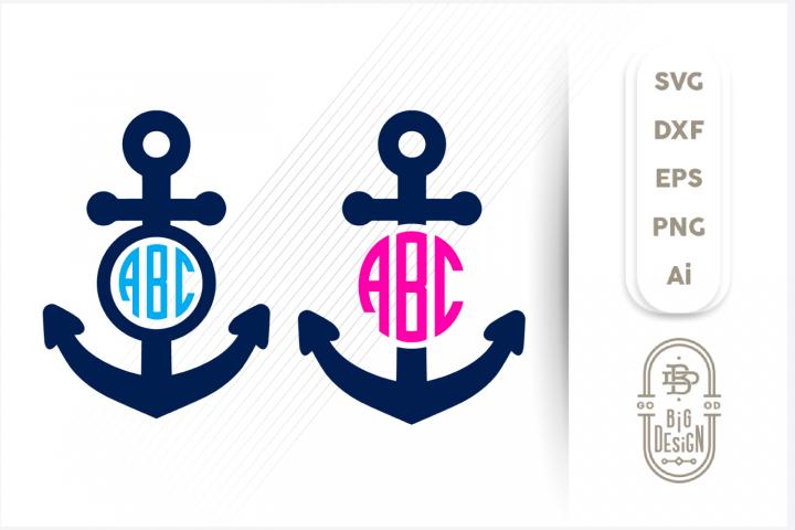 Anchor SVG, Anchor SVG Monogram Frame for Monogram Svg