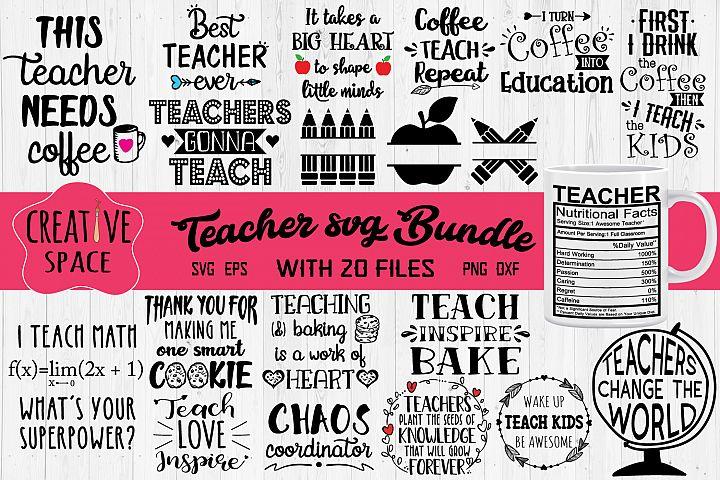 Teacher SVG Bundle example 1
