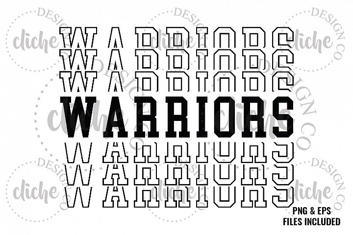 Warriors Sublimation Design & Bonus Vector Files