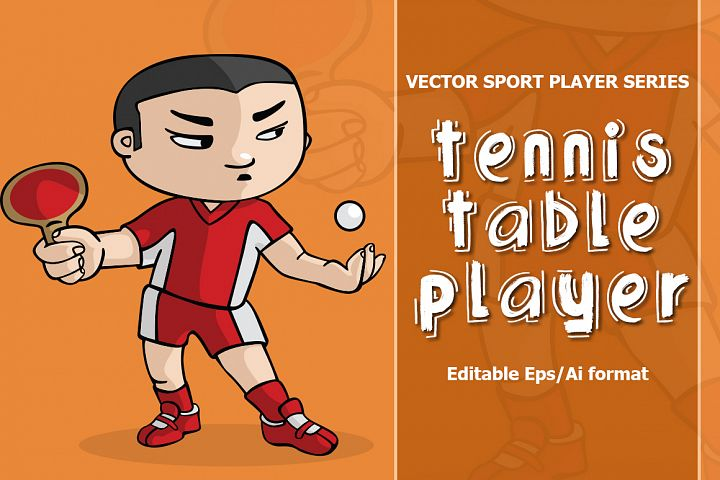 VECTOR Tennis table player