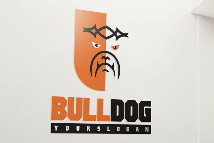 Bull Dog Logo Template