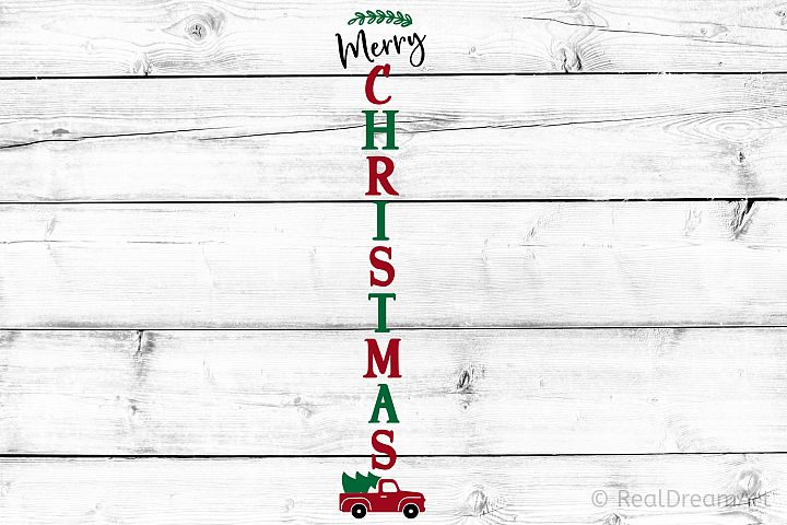 Merry Christmas Porch Sign SVG, DXF, PNG, EPS