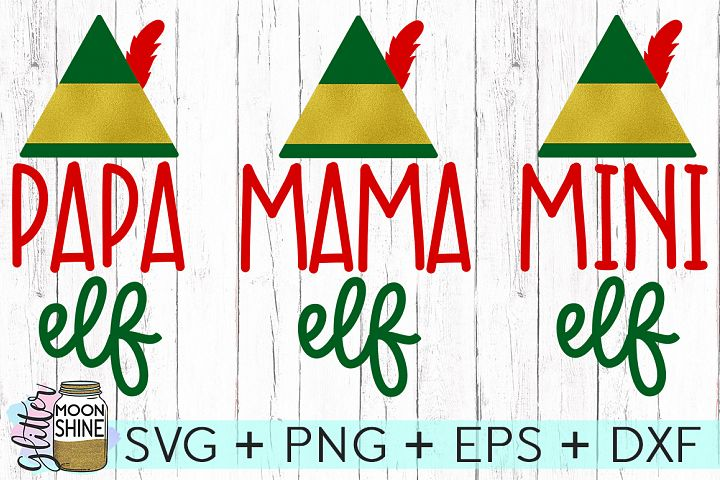 elf family bundle svg dxf png eps cutting files