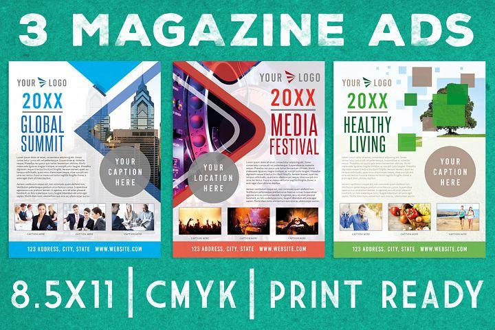 3 Magazine Newsletter Ad Page