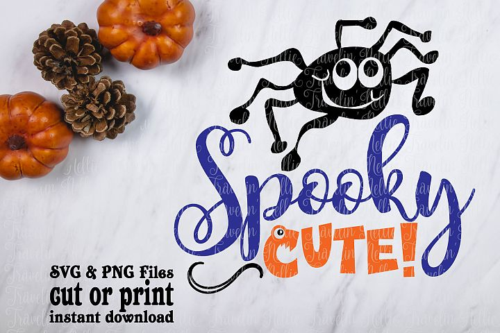 Spooky Cute SVG Halloween Funny Spider Image Girls Cut File