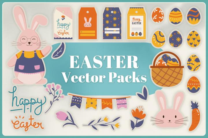 Easter Vector Clipart Packs