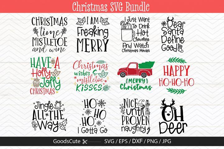 12 Christmas SVG Bundles - SVG DXF JPG PNG EPS