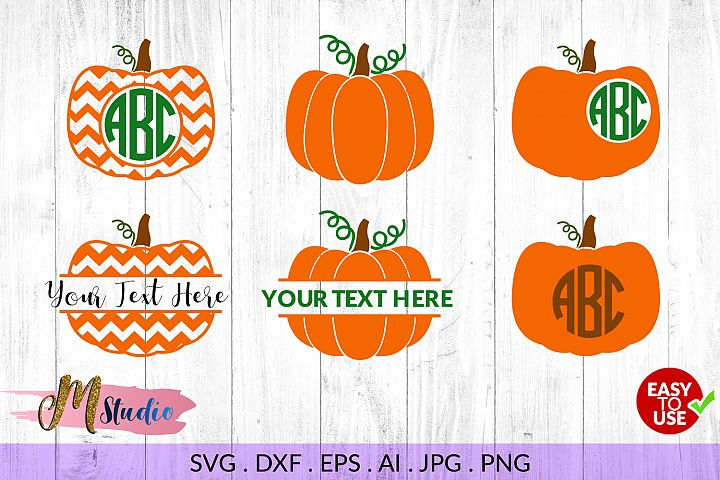 Pumpkin Monogram svg, for Silhouette Cameo or Cricut example 1