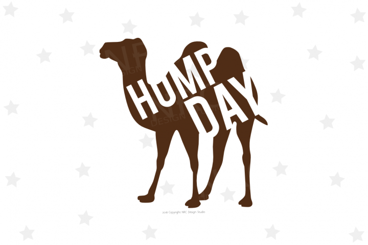 Camel Hump Day SVG File