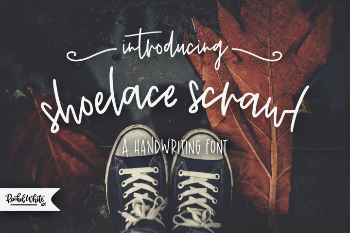 Shoelace Scrawl, a handwriting font