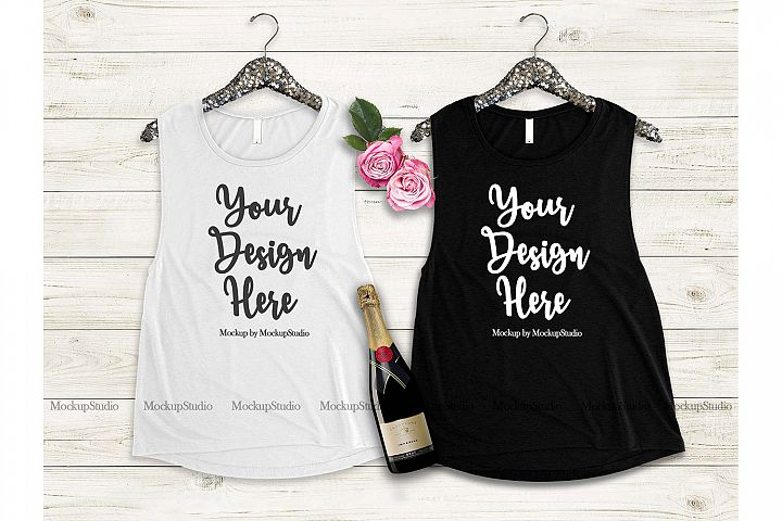 Matching Tank Top Mockup, Bride Bridesmaid Bachelorette