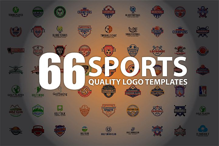66 SPORTS Logo Templates BUNDLE