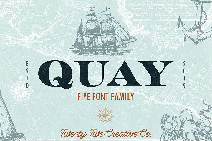 Quay Font Bundle & Bonus Logos