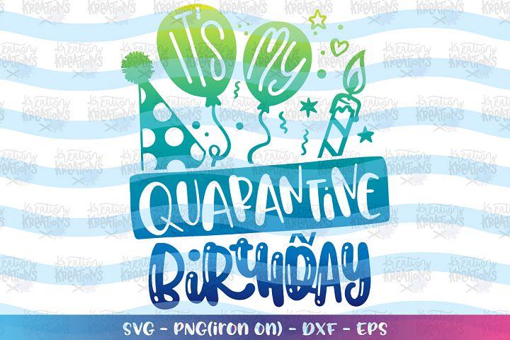 Birthday svg Its my quarantine Birthday - stay home