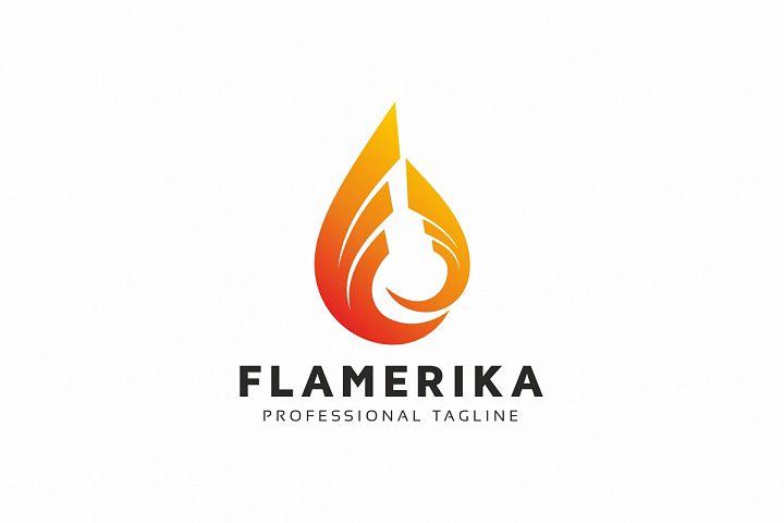 Flame Drop Logo