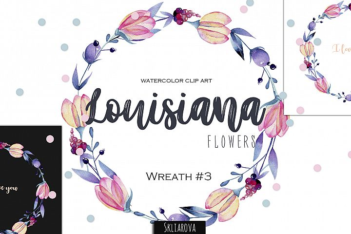 Louisiana flowers. Wreath#3
