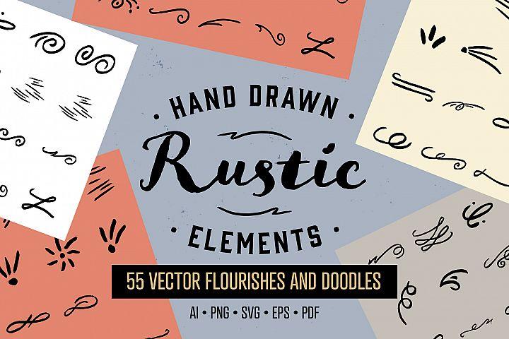 Hand Drawn Rustic Flourishes