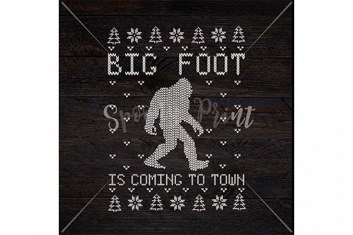 Big Foot is coming to town Christmas Printable