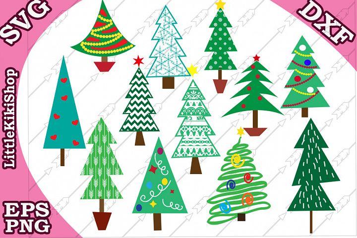 Christmas tree svg, Christmas tree clipart,Christmas Bundle
