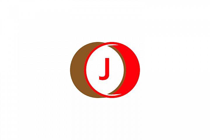 j letter circle logo