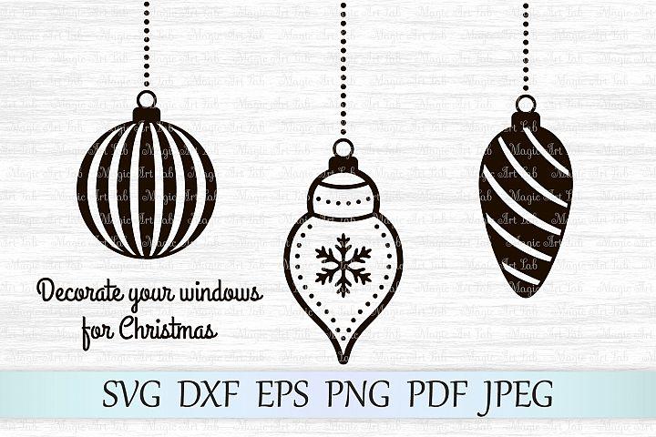Christmas balls SVG, Christmas ornaments SVG, Christmas SVG