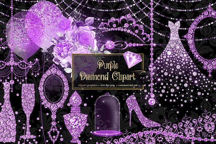 Purple Diamond Clipart