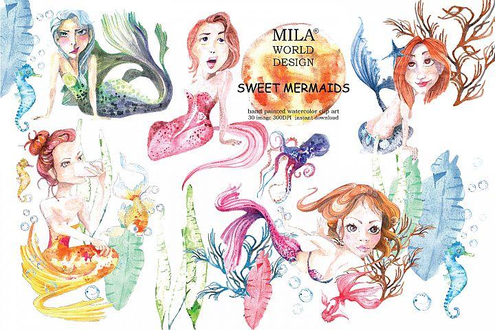 Sweet Mermaids Bundles clipart