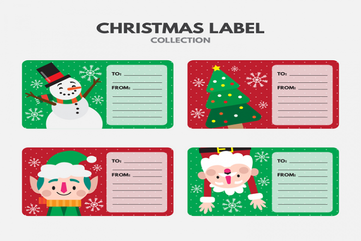 Cute christmas message card vector