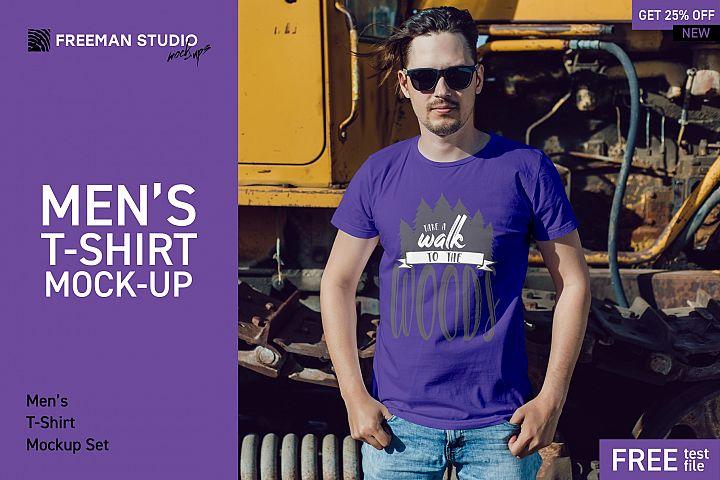 Mens T-Shirt Mock-Up Set