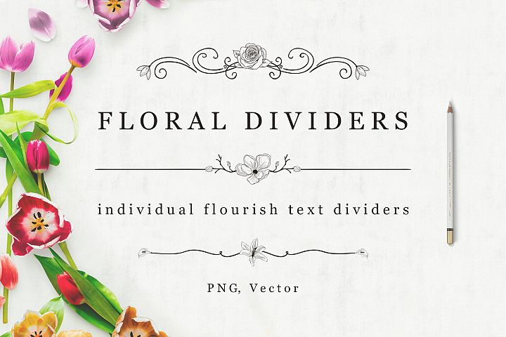 Flourish Dividers & Text Frames example 1