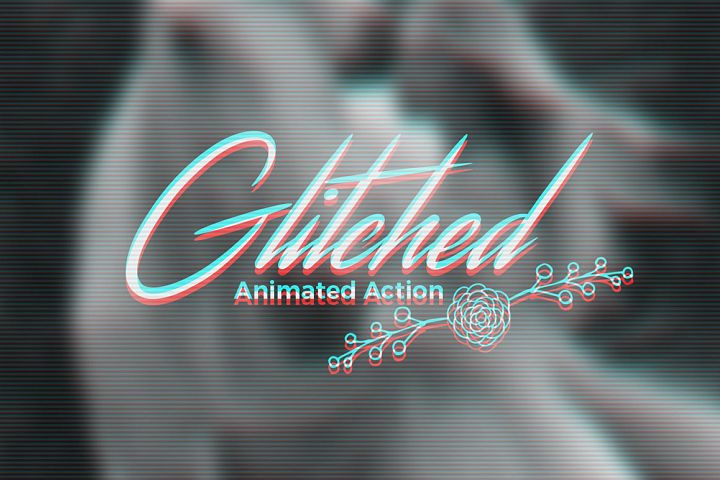 Animated Glitch Effect Action