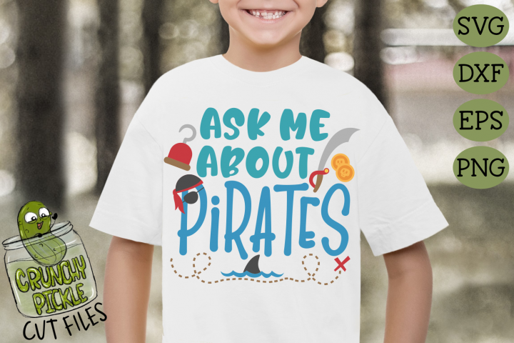 Ask Me About Pirates SVG