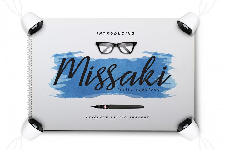 Missaki Typeface (Italic Version) - Free Font of The Week Design1